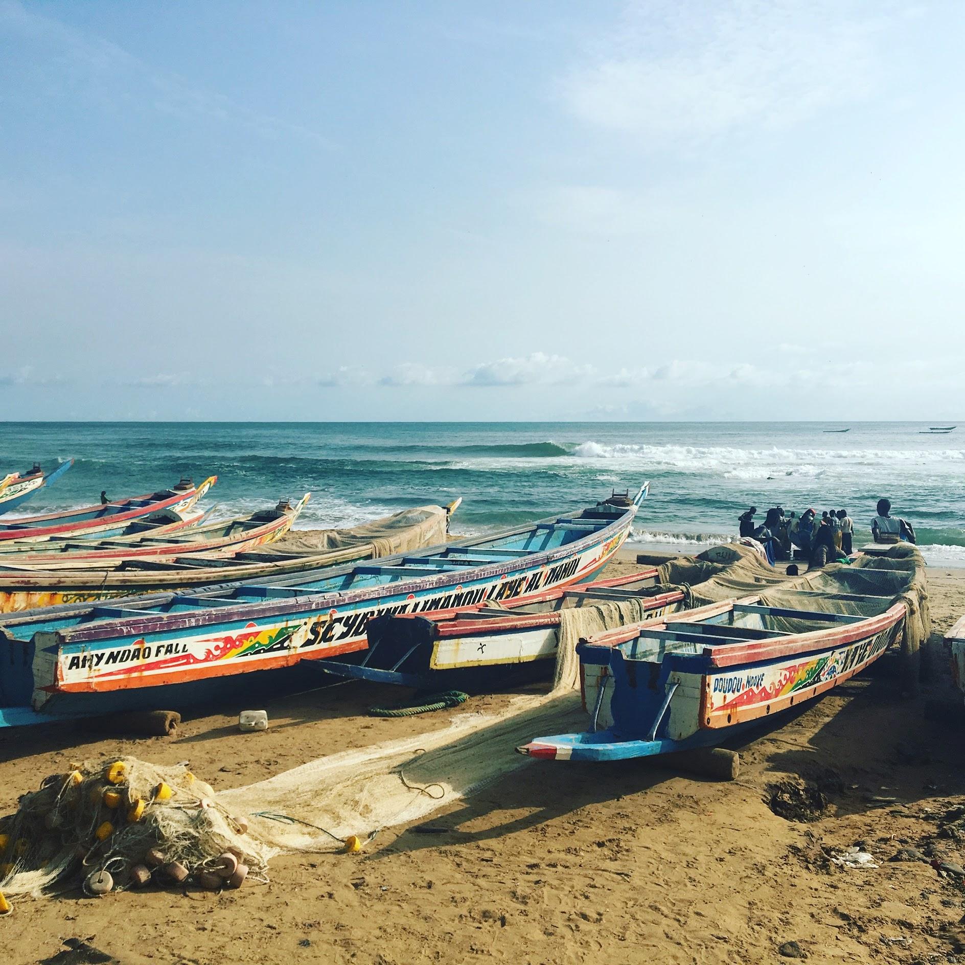 Fishing boats in Dakar, Sénégal